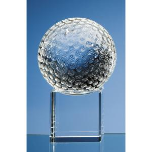 Crystal Golf Ball on Crystal Block